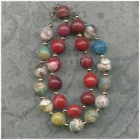 2-strand memory bead bracelet - multicolor