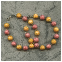 2 keepsake bracelets with yellow and peach rose petals