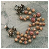 3 strand bracelet with varied size memory beads