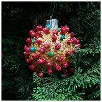 remembering covid 19 christmas tree ornament coronavirus model