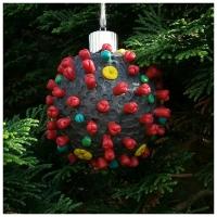 coronavirus SARS Cov 2 model christmas tree ornament