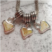 memorial tiny heart charms