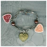 3 custom name charms keepsake bracelet