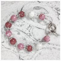 3 different rose petal colors memory bracelet